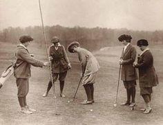 Vintage Golf Photographs. Women Golfers 1920