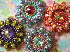 A gaggle of Granadas! by Beadwork by Sian, via Flickr