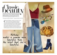 """You're Beautiful"" by gemsandpearlskc ❤ liked on Polyvore featuring RED Valentino, Lipsy, 3.1 Phillip Lim and kangol"