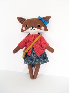 Matilda the Fox // Stuffed Animal Plush Doll by WafflesandSpice