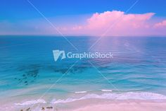 Pink sunrise over the sea