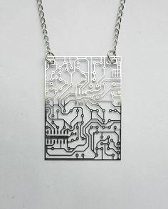 circuit board necklace