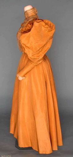 JEWELED RECEPTION GOWN, 1895-1896