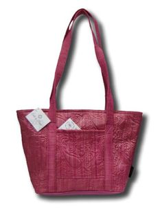 Donna Sharp Quilts Quilted Raspberry Ice Leah Tote Handbag 52786