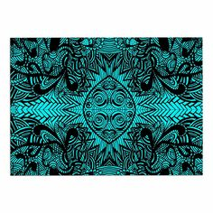 KESS InHouse Shirlei Patricia Muniz 'The Elephant Walk' Teal Ethnic Dog Place Mat, 13' x 18' * Awesome dog product. Click the image : Dog food container