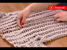 Örgü plaj elbisesi yapımı - YouTube Crochet Videos, Baby Booties, Crochet Clothes, Diy And Crafts, Crochet Necklace, Beachwear, Outdoor Blanket, Knitting, Bikinis