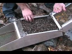 sluice box for gold Gold Sluice Box, Gold Panning Kit, Gold Mining Equipment, Gold Prospecting, Types Of Gold, Metal Detecting, Gold Diy, Minerals And Gemstones, Treasure Hunting