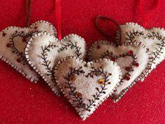 Elegant Felt Heart Ornament Gift Decoration