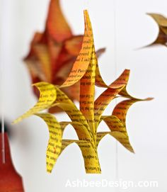 amazing leaves from book pages