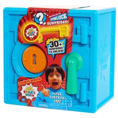 Unlock the fun with the Ryan's World Super Surprise Safe. This large surprise-filled safe brings new fun to unboxing. Push and reveal, smash and surprise, decode and discover all of the amazing surprises inside! Spongebob Birthday Party, 5th Birthday, Birthday Ideas, Sonic Birthday, Ryan Toysreview, Baby Doll Accessories, Only At Walmart, Pokemon, Baby Shower
