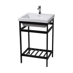 New South Beach 24 Stainless Steel Open Console with Sink Set