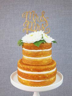10 Script Wedding Cake Toppers | Simply Peachy Wedding Blog