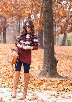 Look for a sweater dress with something extra like a pretty pattern or subtle fringe. Wear it with tights if it's long enough or skinny pants if it's tunic-length. #firstdate