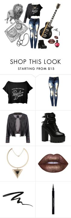 """""""Roar louder!!!"""" by maria-herreross ❤ liked on Polyvore featuring BLVD Supply, Lime Crime, Stila, Givenchy and Paco Rabanne"""