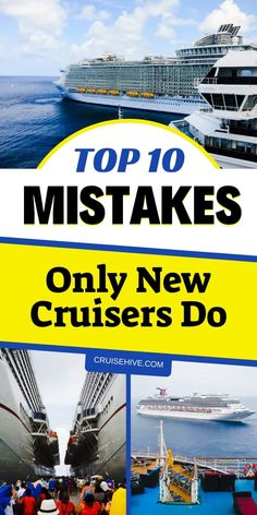 During a cruise vacation here are mistakes which you shouldn't do. These cruise tips apply to cruise ship newbies. Cruise Travel, Cruise Vacation, Shopping Travel, Vacations, Packing For A Cruise, Family Cruise, Packing Lists, Disney Cruise, Vacation Ideas