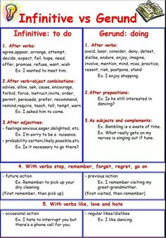 infinitive vs gerund