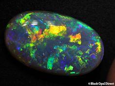 7.93 ct crystal opal gem 19x11.5x5mm - Black Opal Direct