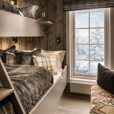 Modern Cabin Interior, Interior Design, Mountain House Decor, Scandinavian Cabin, Cute Bedroom Ideas, Tiny House Cabin, Cabin Interiors, Cozy Cabin, Furniture Inspiration