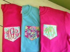 Short Sleeve Monogrammed Pocket Tee - Lilly Pulitzer Fabric