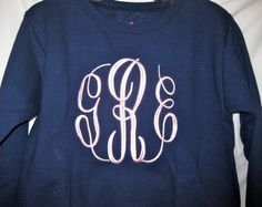 Large Circle Monogram Sweatshirt by Elizabs on Etsy