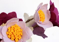 Bouquet di fiori di feltro piccolo centrotavola di Mammacraftshop