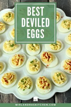 Deviled eggs are one of the classic Easter and Thanksgiving recipes that many people look forward to at their family gat Dishes To Go, Side Dishes Easy, Side Dish Recipes, Egg Recipes, Brunch Recipes, Cooking Recipes, Thanksgiving Recipes, Holiday Recipes, Best Deviled Eggs