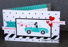 Splitcoaststampers FOOGallery - Road to Happiness Bridal Shower card