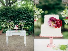 garden inspired cake