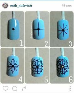 Step by Step Nail Art Blog, New Nail Art, Nail Art Hacks, Nail Art Diy, Easy Nail Art, Diy Acrylic Nails, Matte Nail Art, Diy Nails, Accent Nail Designs