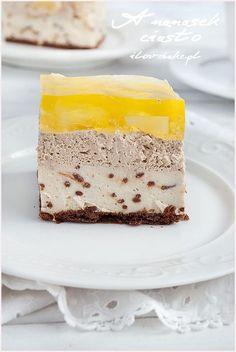 Pinapple cake (no bake) ilovebake. Cold Desserts, Health Desserts, Delicious Desserts, Pastry Recipes, Cake Recipes, Pinapple Cake, Pineapple, Star Cakes, Sweets Cake