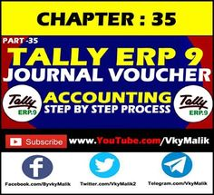 Chapter 35 : How to Enter Journal Voucher Entry in Tally Journal, Teaching, Learning, Education, Journals, Tutorials