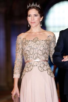 Crown Princess Mary of Denmark attends a dinner hosted by Queen Beatrix of The Netherlands ahead of her abdication in favour of Crown Prince Willem Alexander