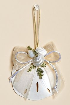 Christmas Cove Sand Dollar Ornaments with White Accents