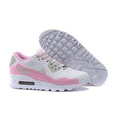 d42e19cd6c Feminino Nike Air Max 90 VT QS Sapatilhas Rosa Branco 813153-107 Roupas  Masculinas