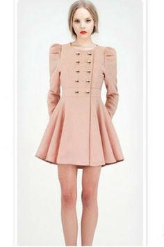 Puff skirt style double-breasted jacket coat