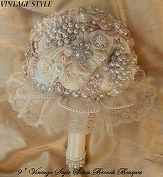 Vintage Wedding Cascading Bouquets | ... glam bouquet bridal brooch bouquets wedding decor view all products