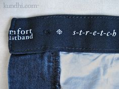 How to adjust the waist of your jeans in 4 easy steps...sigh....no more belt for my jeans!