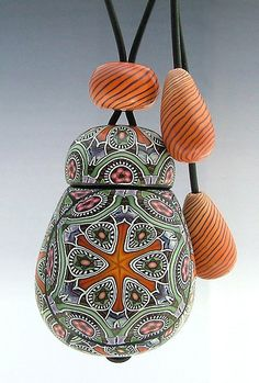 Polymer clay inro (hollow wearable vessel) | Jana Roberts Benzon