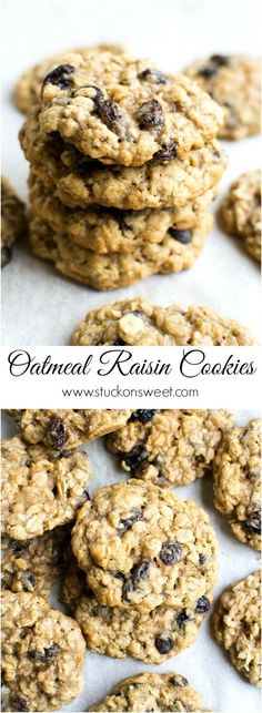 Breakfast cookies actually make mornings enjoyable. It's crazy how much the right cookie can help. Enjoy these 17 golden oatmeal cookie recipes… Oatmeal Rasin Cookies, Raisin Cookie Recipe, Oatmeal Cookie Recipes, Best Cookie Recipes, Healthy Dessert Recipes, Baking Recipes, Delicious Desserts, Yummy Food, Healthy Sweets