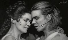 "A pencil drawing portrait - from ""Elisabeth"" das musical, Maya Hakvoort & Máté Kamarás  https://www.facebook.com/YuiSofficial"