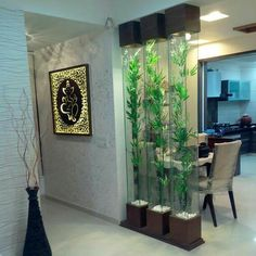 Best catalog for modern room divider partition wall design ideas 2019 Living Room Decor Colors, House Design, Room Design, Curtains Living Room, Glass Partition Designs, Modern Room Divider, Ceiling Design, Wall Design, Living Room Designs