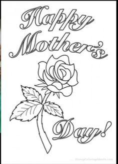 Resultado De Imagen Para Happy Mothers Day Cards For Coloring
