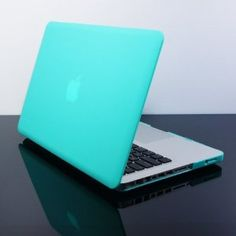 TopCase® Tiffany Blue Rubberized Satin Hard Case Cover for New Macbook Pro 13-inch  (A1278/with or without Thunderbolt)