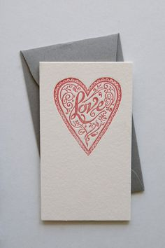 Tiny Letterpress Love Notes by in haus press.