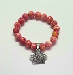Pretty as a Princess Natural Gemstones, Beaded Bracelets, Couture, Beads, Princess, Pretty, Pink, Silver, Jewelry