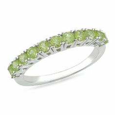 Sterling Silver 7/8 CT TGW Peridot Fashion Ring Amour. $24.99