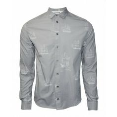 BOLONGARO TREVOR CASTAWAY SHIRT - Shirts - Menswear. Grey goes perfect together with light and black denim.