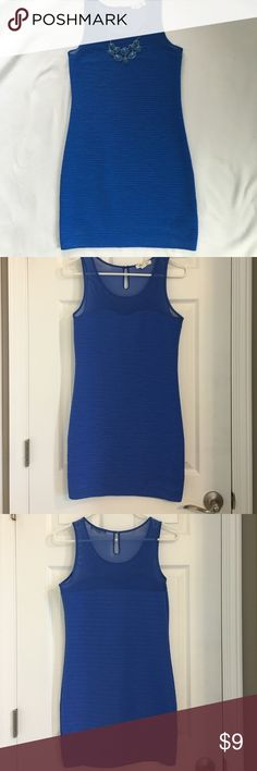 Royal blue fitted dress Like new body con size dress. Form fitting and so flattering! Blue in color. Dresses