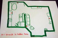 teach map-reading skills with hidden snacks.