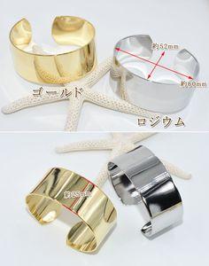 ブレスレット金属腕輪シンプル幅25mm【1ヶ】